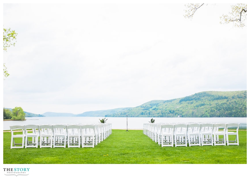 lakeside wedding ceremony in Cooperstown, NY
