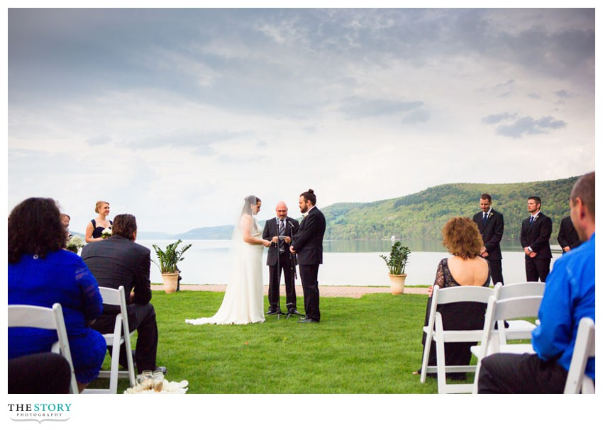 Otsego lake wedding ceremony in Cooperstown, NY