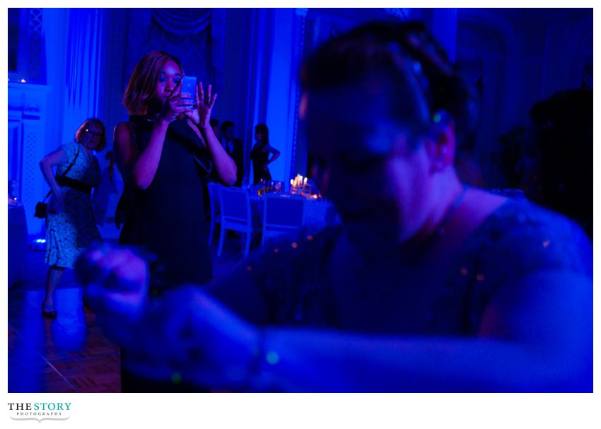 candid wedding reception photography in Cooperstown