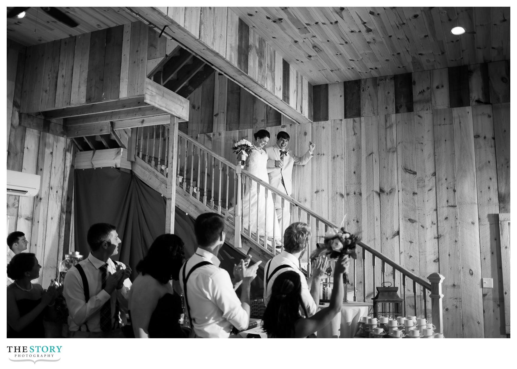 upstate, NY barn wedding reception