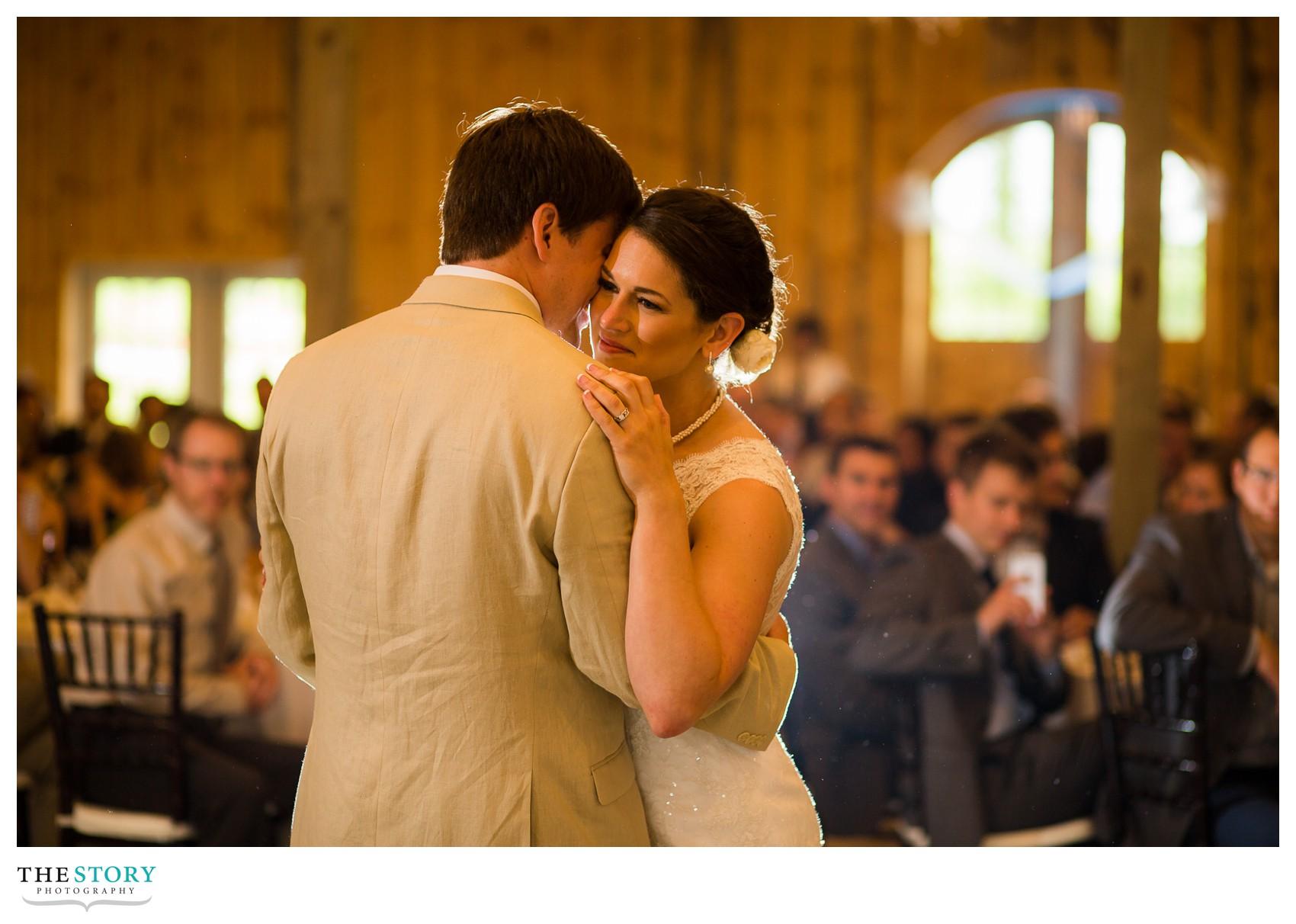 barn wedding reception at Wolf Oak Acres