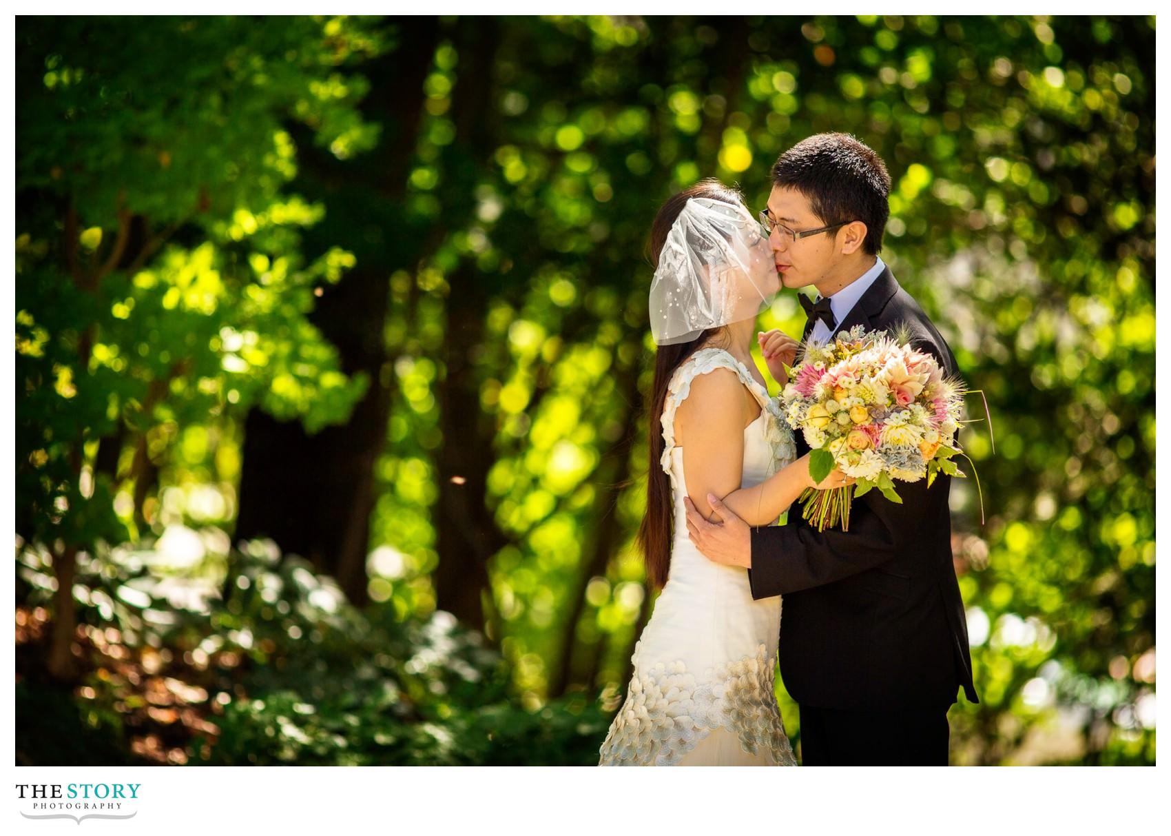 wedding photos at Cornell A.D. White Gardens